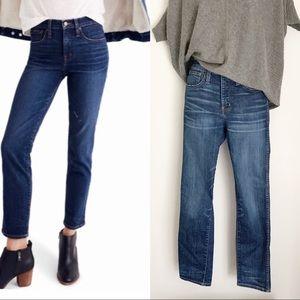 Madewell High Waisted Slim Straight  Jeans